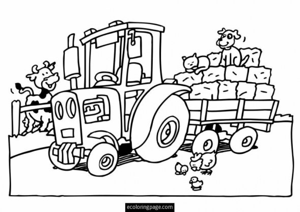 Printable Tractor Coloring Pages 77764
