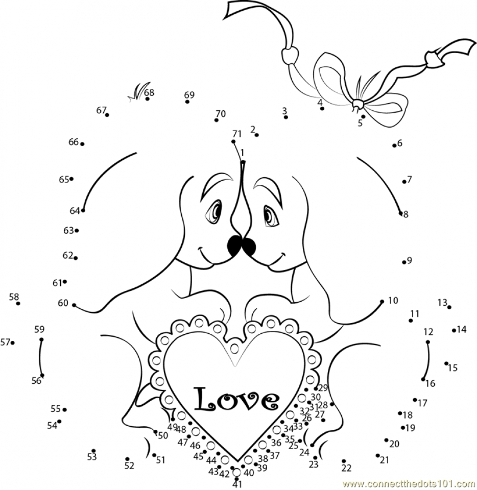 Printable Valentine Dot to Dot Coloring Pages   EK1HU