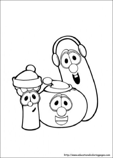 Printable Veggie Tales Coloring Pages Online mnbb6