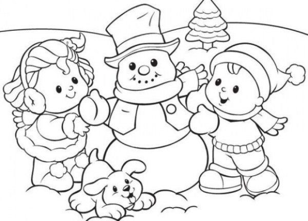 free printable winter coloring pages # 55
