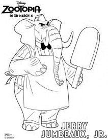 Printable Zootopia Coloring Pages 171714