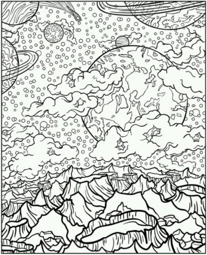 Space Coloring Pages for Adults LOP79