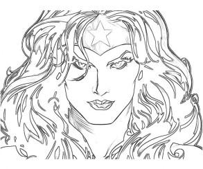 Wonder Woman Coloring Pages Free Printable u043e
