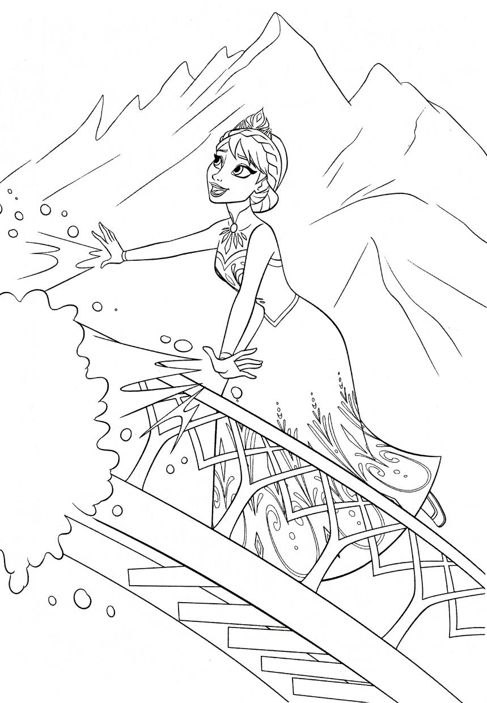 Disney Queen Elsa Coloring Pages Frozen - 09341