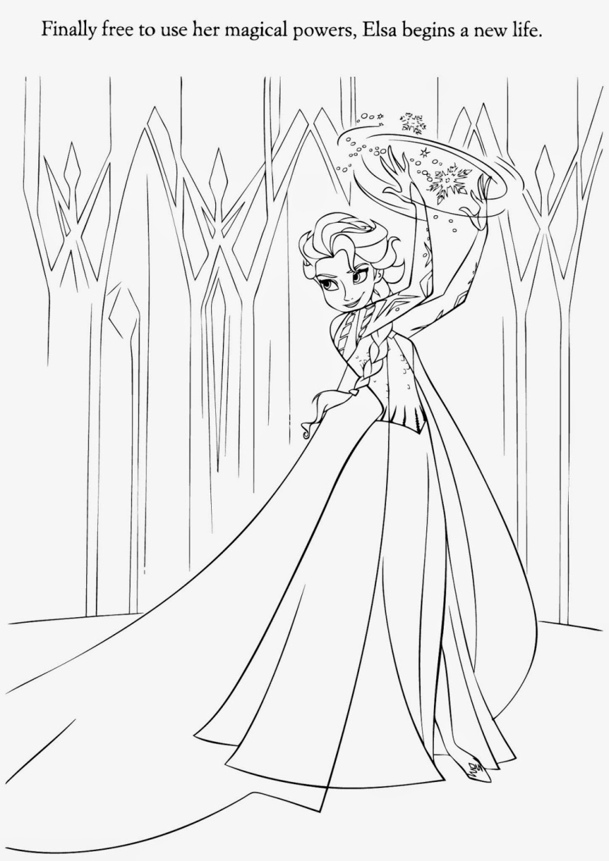 Queen Elsa Coloring Page