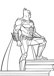 Free Printable Batman Coloring Pages DC Superhero - 95381
