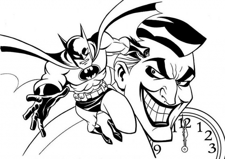 Batman Coloring Pages for Kids   361NL
