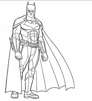 Batman Coloring Pages for Kids 91HR6