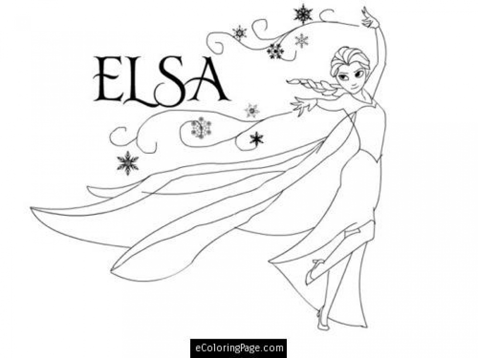 Disney Princess Elsa Coloring Pages Free to Print   52174