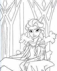 Disney Princess Elsa Coloring Pages Free to Print AGR51