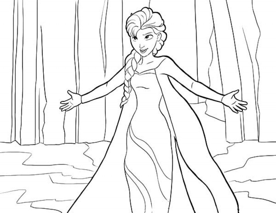 Full Size Elsa Coloring Pages Novocom Top