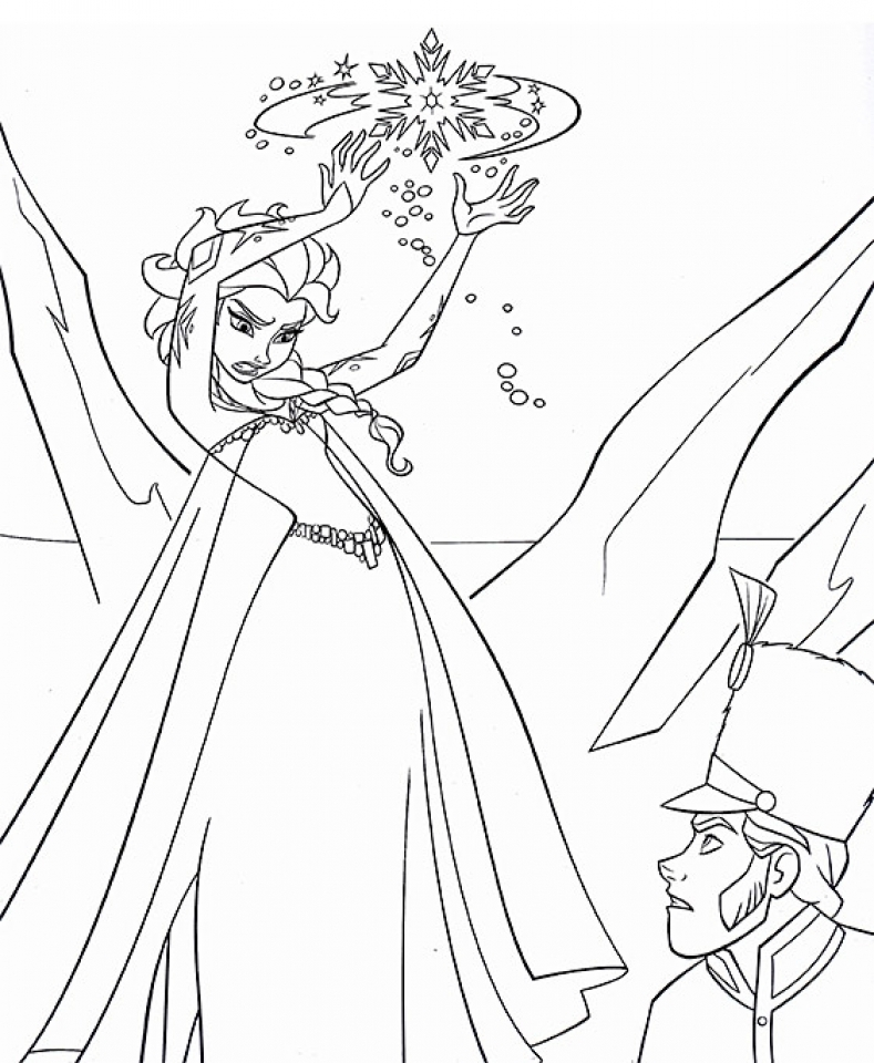 Free Printable Elsa Coloring Pages
