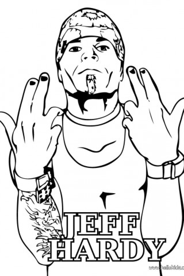 Jeff Hardy Coloring Pages Printable   3CVW0