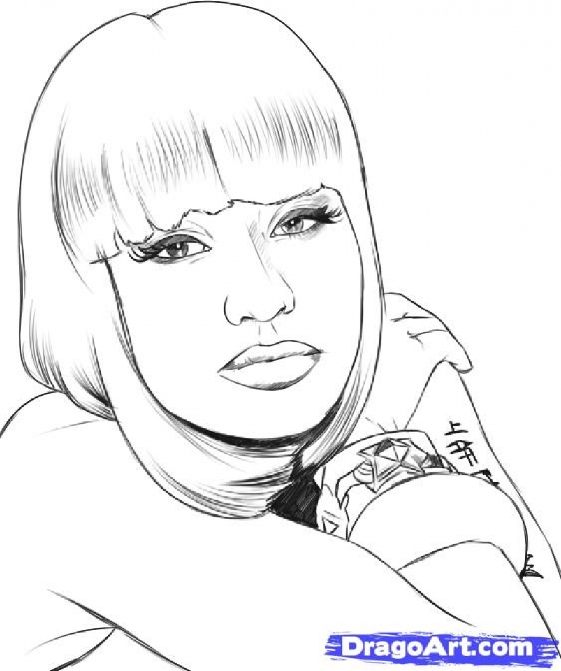 Nicki Minaj Coloring Pages To Print   21784