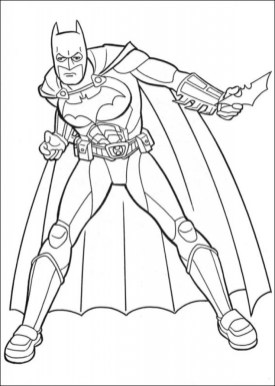 Printable Batman Coloring Pages for Toddlers 781BX
