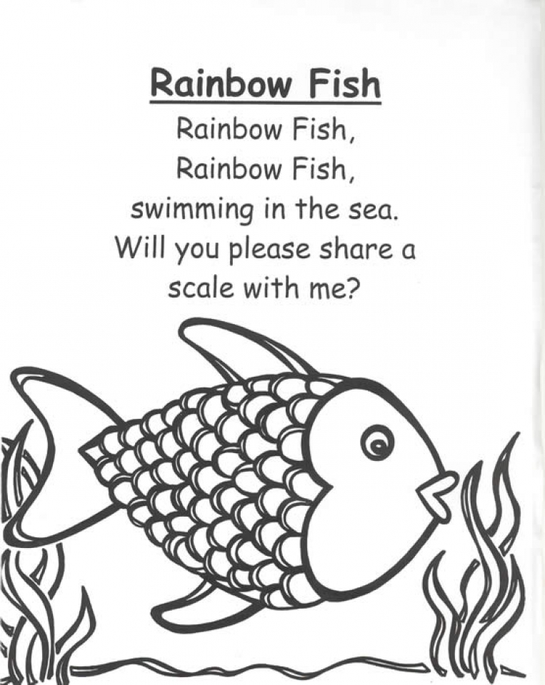 Printable Rainbow Fish Coloring Sheets for Kids   8cbs2