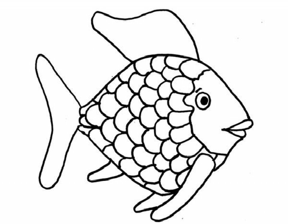 Rainbow Fish Coloring Pages   43819
