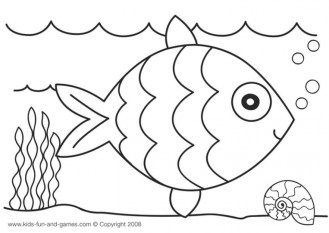 Rainbow Fish Coloring Pages for Preschoolers 32512