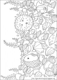 Rainbow Fish Coloring Pages Free 8SFQ0