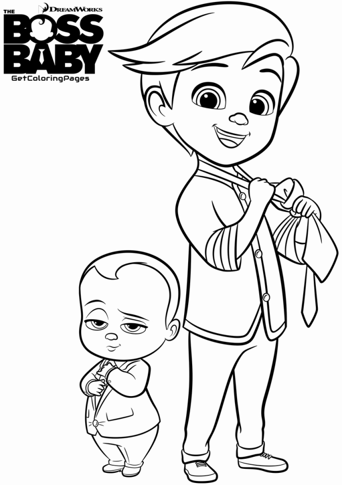 Boss Baby Coloring Pages Free to Print - 99571