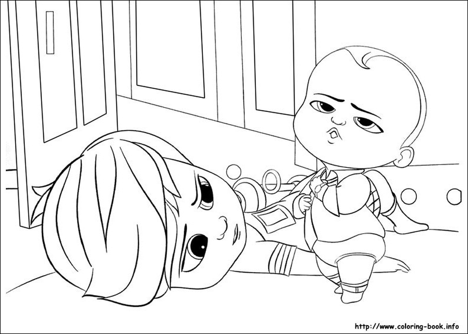 Boss Baby Free Printable Coloring Pages - 47981