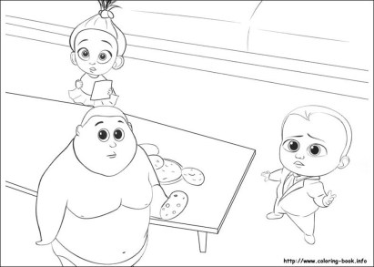 Boss Baby Free Printable Coloring Pages - 82121