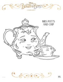 Free Printable Beauty and The Beast 2017 Coloring Pages Mrs