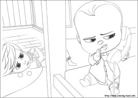 Online Boss Baby Coloring Pages for Kids - 80431