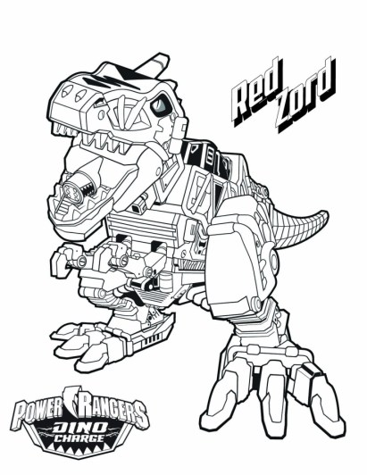Power Ranger Dino Force Coloring Pages for Kids - 15278