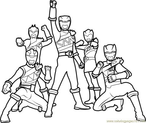 Power Ranger Dino Force Coloring Pages for Kids - 31167
