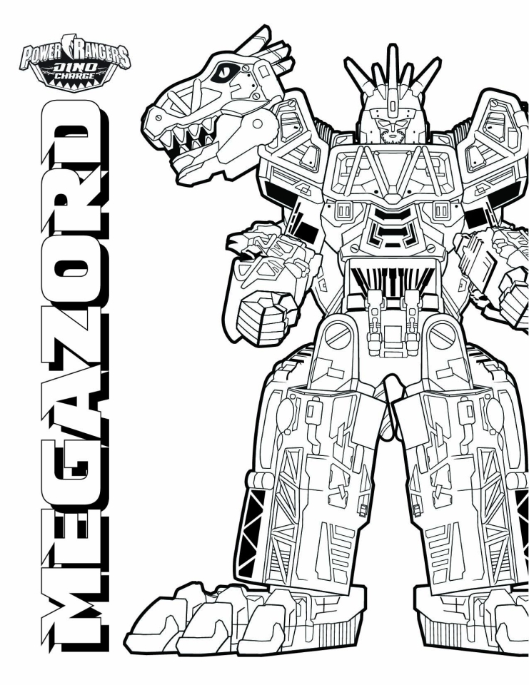 Power Ranger Dino Force Coloring Pages for Kids - 89121