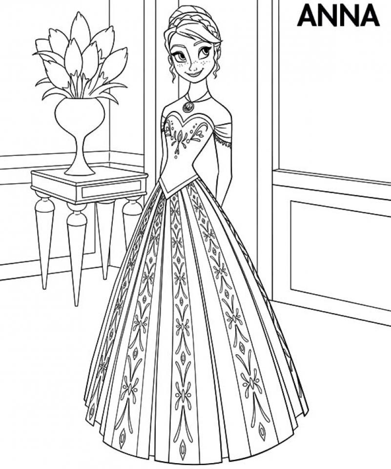 Disney Frozen Coloring Book Page Anna and Elsa Disney Princess ... | 960x801