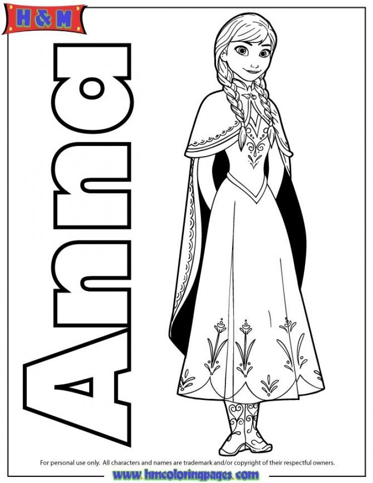 Disney Frozen Coloring Pages Princess Anna   77389
