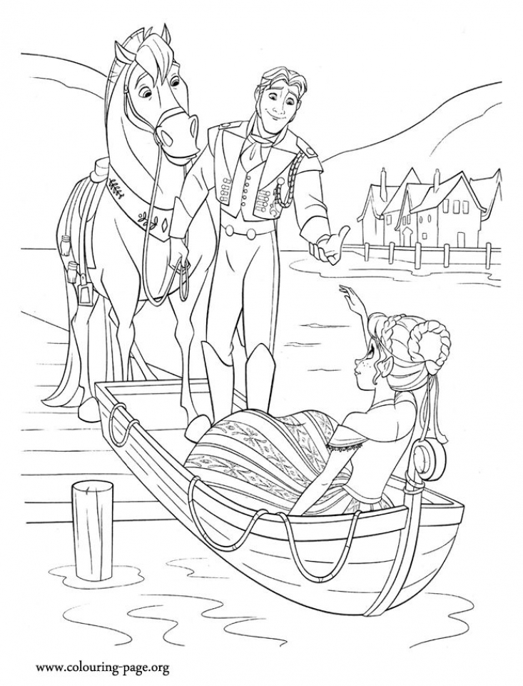 Disney Frozen Princess Anna Coloring Pages Free to Print   73812