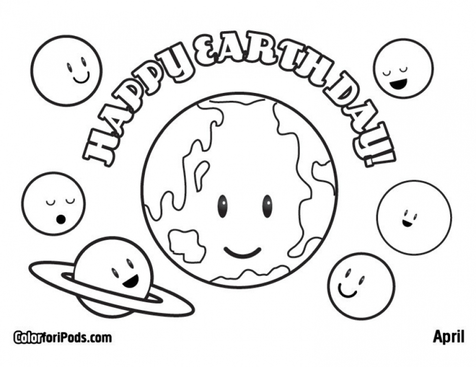 Earth Day Coloring Sheets