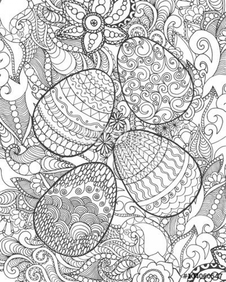 Easter Egg Hard Coloring Pages for Adults   36621