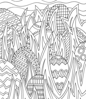 Easter Egg Hard Coloring Pages for Adults 38803