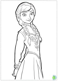 Free Coloring Pages of Princess Anna from Disney Frozen 11857
