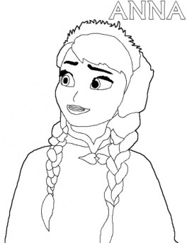 Free Coloring Pages of Princess Anna from Disney Frozen 22117
