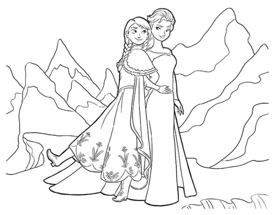 Free Coloring Pages of Princess Anna from Disney Frozen   61546