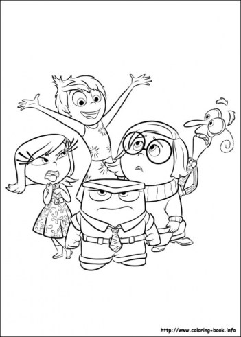 Free Inside Out Coloring Pages Disney Printable 63992