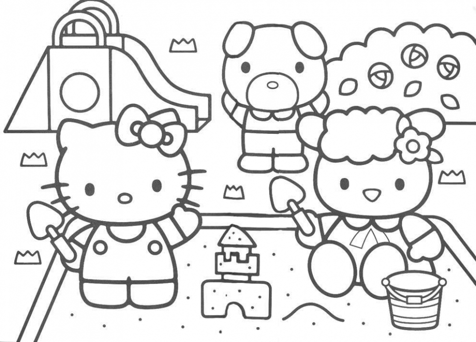 Free Kitty Coloring Pages for Toddlers   54494
