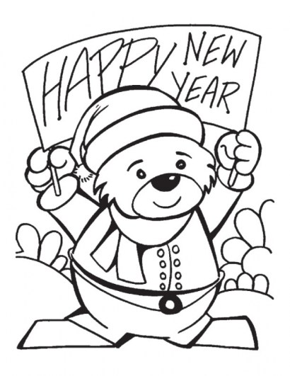 Free Picture of New Years Coloring Pages 94437