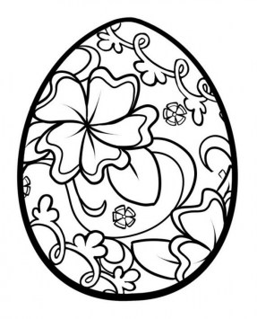 Free Printable Easter Egg Coloring Pages for Adults 16471