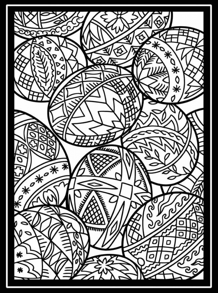 Free Printable Easter Egg Coloring Pages for Adults   65730