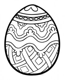Free Printable Easter Egg Coloring Pages for Adults 86791