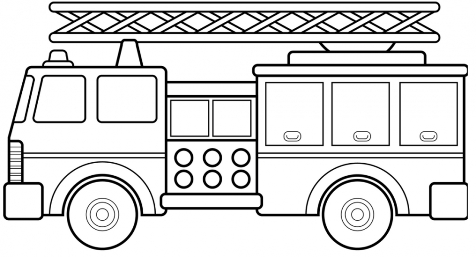 Free Printable Fire Truck Coloring Page for Kids   29656
