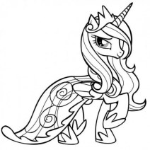 Free Simple My Little Pony Friendship Is Magic Coloring Pages for Children 33914