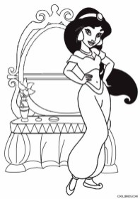 Image of Jasmine Coloring Pages to Print for Kids 48558