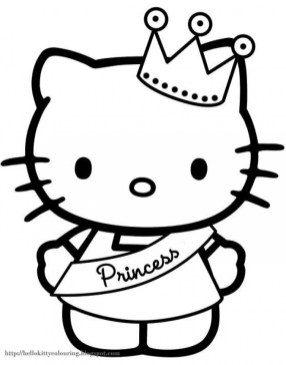 Kitty Coloring Pages Free for Kids 32884